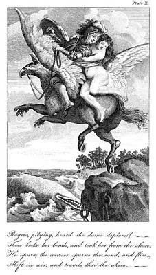 Ruggiero Painting - Ariosto Orlando Furioso by Granger