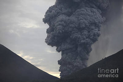 Amy Weiss - Ash Cloud Rising From Tompaluan Crater by Richard Roscoe