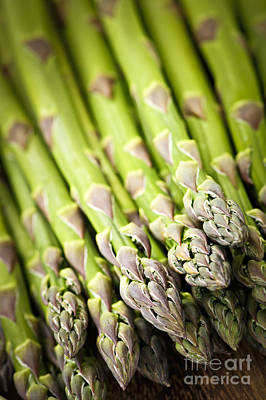 Food And Beverage Royalty-Free and Rights-Managed Images - Asparagus by Elena Elisseeva