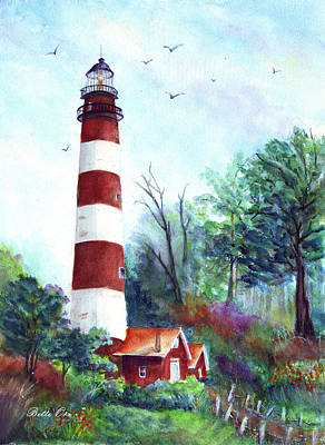 Eastern Shore Painting - Assateague Island Lighthouse by Bette Orr