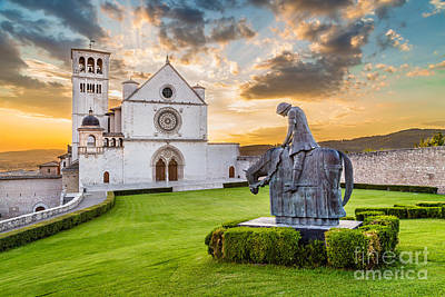 Landmarks Royalty Free Images - Assisi Sunset Royalty-Free Image by JR Photography