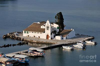 Katharine Hepburn - Panagia Vlachernon monastery in Corfu island by George Atsametakis