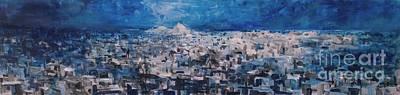 Athens Is Sleeping Art Print by Jelena Ignjatovic