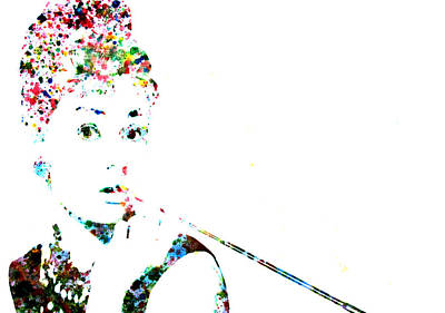 Belguim Wall Art - Painting - Audrey Hepburn by Brian Reaves