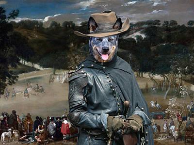 Cattle Dog Painting - Australian Cattle Dog Art Canvas Print by Sandra Sij