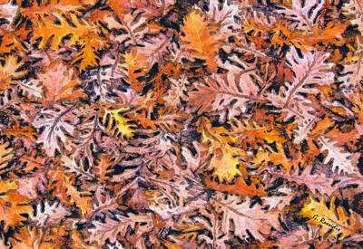 Fantasy Painting - Autumn Leaves by George Rossidis
