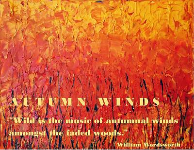 Mixed Media - Autumn Winds by Luz Elena Aponte