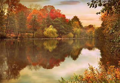 Autumn Landscape Photograph - Autumn's Mirror by Jessica Jenney