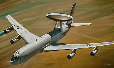 Dale Digital Art - Awacs Up For A Drink by Dale Jackson
