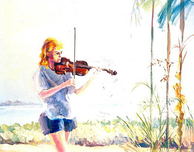 Painting - B01. Violinist by Les Melton