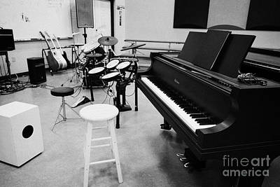 Baby Grand Piano In A Music Training Room Art Print by Joe Fox