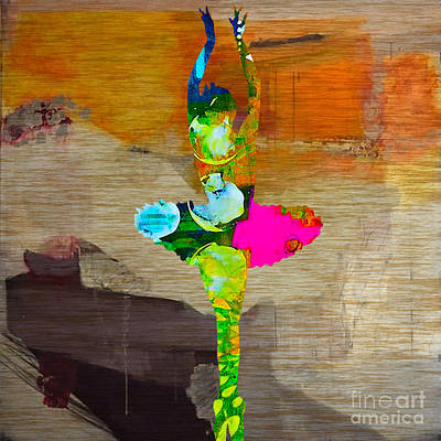Dance Mixed Media - Ballerina by Marvin Blaine