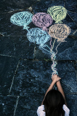 Floating Girl Photograph - Balloons by Joana Kruse