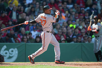 Photograph - Baltimore Orioles V Boston Red Sox by Rob Tringali