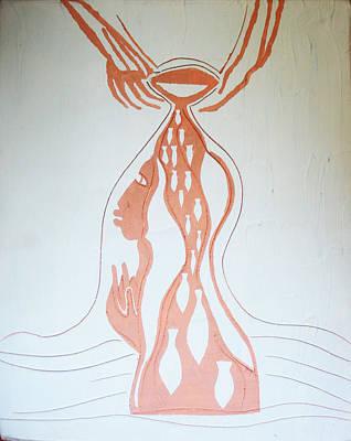Ugandan Contemporary Ceramics Painting - Baptism Of The Lord Jesus by Gloria Ssali