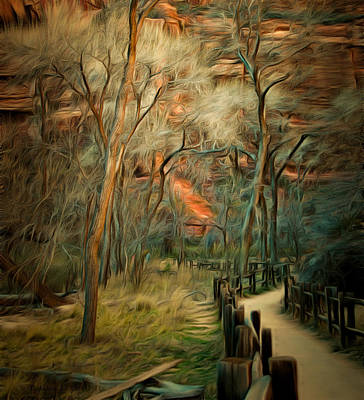 Split Rail Fence Zion Art Print by Barbara Snyder