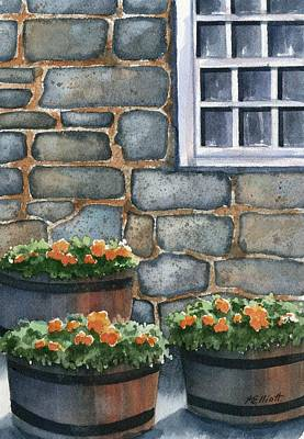 Masonry Painting - 3 Barrels by Marsha Elliott