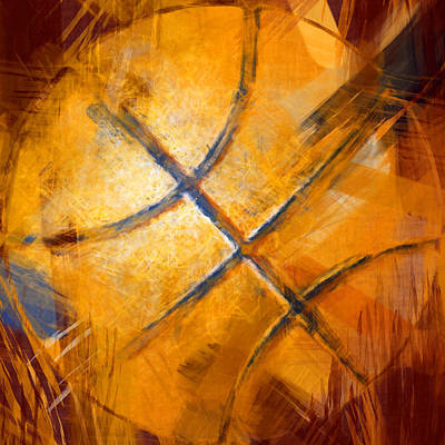Sports Royalty-Free and Rights-Managed Images - Basketball Abstract by David G Paul