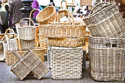 Candid Photograph - Baskets by Tom Gowanlock