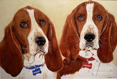 Painting - Basset Hounds by Kathy Flood
