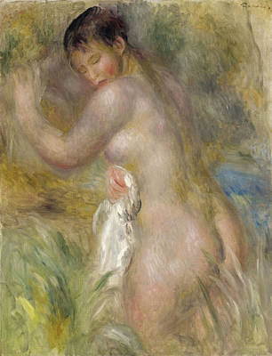 Bather Renoir Painting - Bather by Pierre-Auguste Renoir
