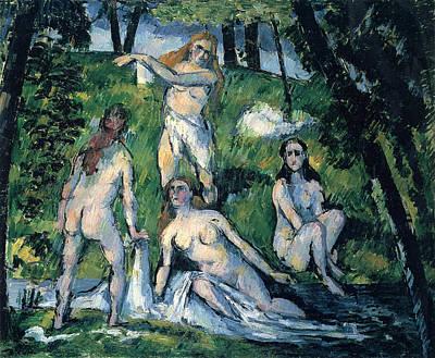 Bathers By Cezanne Art Print