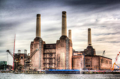 Frank Sinatra Rights Managed Images - Battersea Power Station London Royalty-Free Image by David Pyatt
