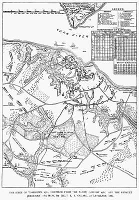 Battle Of Yorktown, 1781 Art Print by Granger