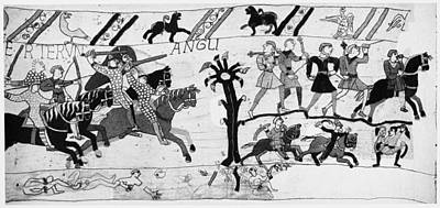 Tapestries Textiles Painting - Bayeux Tapestry by Granger