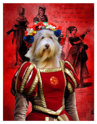 Up Up And Away - Bearded Collie Art Canvas Print by Sandra Sij