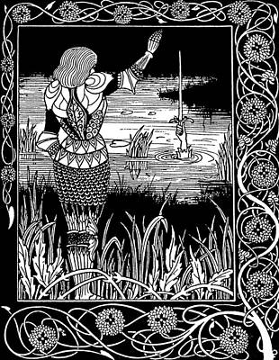 Turn Of The Century Drawing - Beardsley Morte D'arthur by Granger