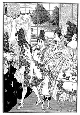Turn Of The Century Drawing - Beardsley Rape Of Lock by Granger