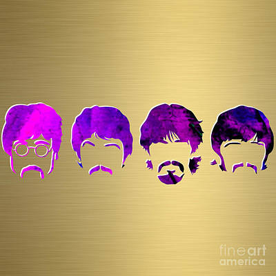 Rock And Roll Mixed Media - Beatles Gold Series by Marvin Blaine