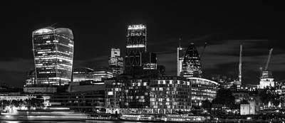 Pasta Al Dente - Beautiful black and white image of London City at night with lov by Matthew Gibson