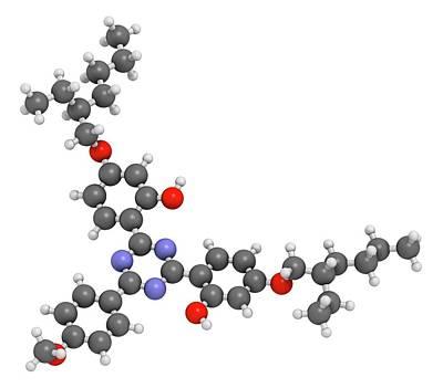 Bemotrizinol Sunscreen Molecule Art Print by Molekuul