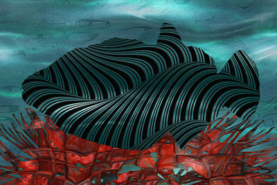 Social Movements Digital Art - Beneath The Waves Series by Jack Zulli