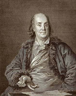 Declaration Of Independence Photograph - Benjamin Franklin by American Philosophical Society
