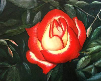Painting - Betty Boop Rose by June Holwell