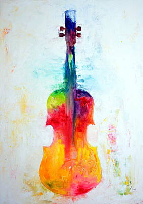 Spiritual.realistic Painting - Beyond The Strings by Ivan Guaderrama