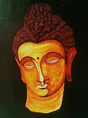 Painting - Bhuddha Painting by Rekha Artz