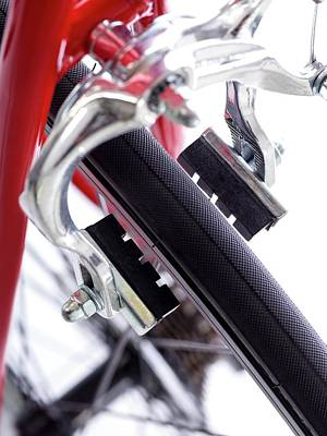 Component Photograph - Bicycle Brakes by Science Photo Library