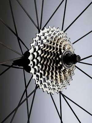 Component Photograph - Bicycle Cassette by Science Photo Library