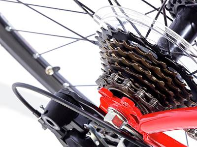 Mechanism Photograph - Bicycle Rear Gears by Science Photo Library