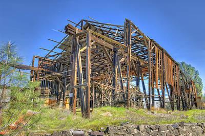 Photograph - Big Gun Quarry Processing Building by Jim Thompson