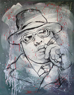 Character Portraits Painting - Biggie Smalls Art Painting Poster by Kim Wang