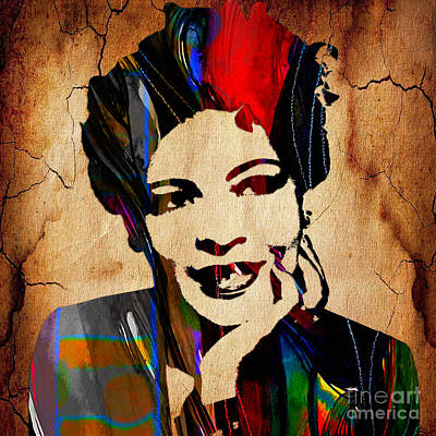 Billie Holiday Collection Print by Marvin Blaine
