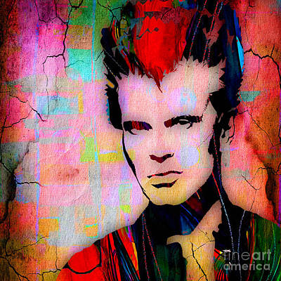 Billy Idol Wall Art - Mixed Media - Billy Idol Collection by Marvin Blaine