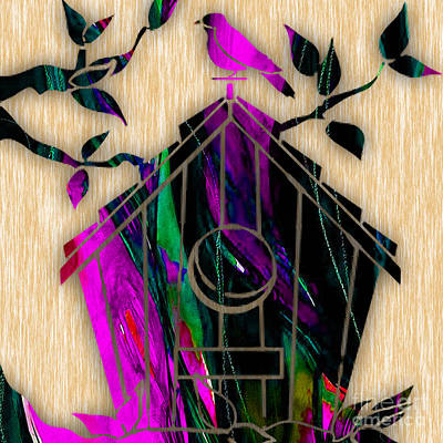 Animal Mixed Media - Bird House by Marvin Blaine