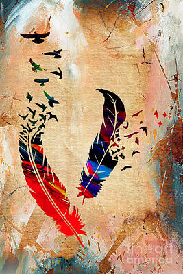 Tree Art Mixed Media - Birds Of A Feather by Marvin Blaine