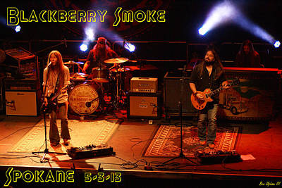 Photograph - Blackberry Smoke At The Knitting Factory 2013 by Ben Upham